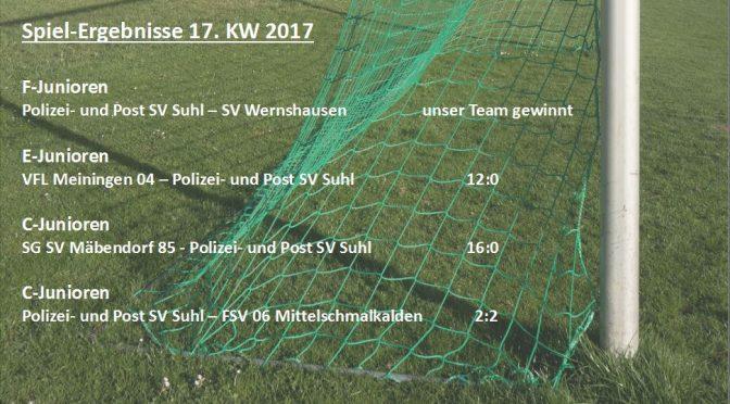 Spielergebnisse 17. KW 2017