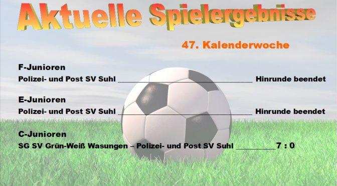 Spielergebnisse 47. KW 2017